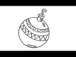 how to draw a sphere ornament tree