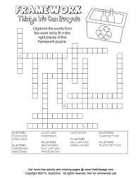 printable paper puzzles things we recycle framework puzzle free coloring pages for kids