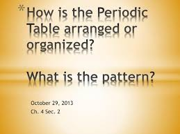 how is the periodic table organized ppt how is the periodic table arranged or organized what is the