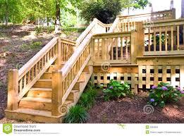 wood deck steps stock images image 9559904