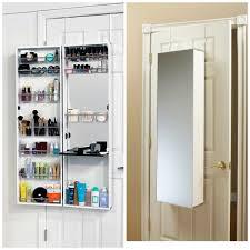 over the door cabinet amazon com mirror cosmetic make up beauty organizer over door wall