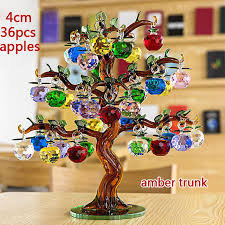 Apple Home Decor Aliexpress Com Buy Crystal Glass Apple Tree Ornaments 36pcs