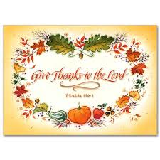 give thanks to the lord thanksgiving card