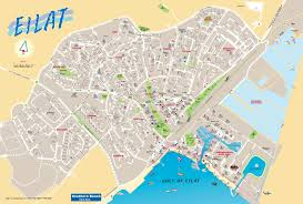 Israel World Map by Eilat Tourist Map
