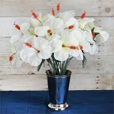 60 pcs silk hibiscus flowers for wedding bouquets centerpieces