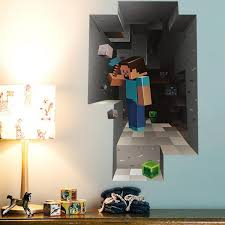 Games Decoration Home Minecraft Game 3d Dwarf Mining Diy Home Decal Decor Wall Mural