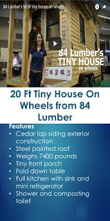 lumber84 com 20 ft tiny house on wheels from 84 lumber 84 lumber tiny houses