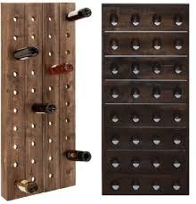 rustic wall mounted wine rack u2014 randy gregory design minimalist