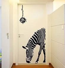 Giraffe Print Home Decor Huge Zabra Vinyl Wall Sticker Zebra Wall Decals Animal Print Home