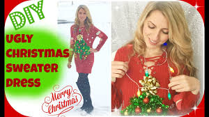 diy ugly christmas sweater dress christmas party ideas youtube