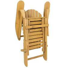 wooden adirondack chair w pull out ottoman u2013 best choice products