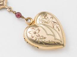 jewelry locket necklace images Antique locket gold heart necklace gold filled locket heart locket jpg