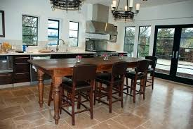 rustic kitchen island table counter height chairs for kitchen island furniture of rustic 5 piece