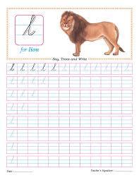 cursive small letter l practice worksheet download free cursive