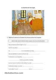 Chambre De Gogh - la chambre de gogh class worksheets and