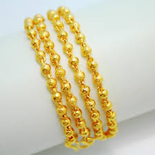 gold necklace chains wholesale images Wholesale thailand 3 mm thick bead rosary bead necklace chain jpg