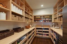 pantry ideas for kitchens large walk in pantry design with wood shelves and storage also