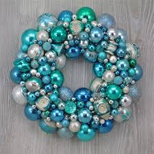 aqua and pale blue ornament wreath by thehauntedl