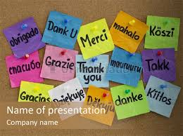 powerpoint presentation templates for thank you thank you in different languages powerpoint template id 0000016545