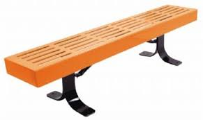 Park Benches Plastic Coated Metal Park Benches