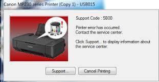 reset printer canon ip2770 error code 006 5b00