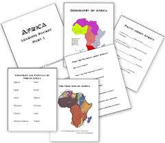 africa unit basic facts about africa homeschool den