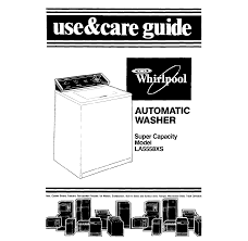 whirlpool washer la5558xs user guide manualsonline com