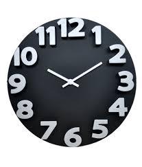 klok 3d analog wall clock black wall clock buy klok 3d analog