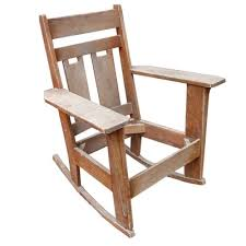 Oak Rocking Chairs Oak And Bent Twig Rocking Chair Ebth
