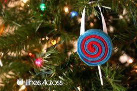felt lollipop ornaments ornament 3 lines across
