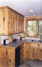 Knotty Pine Kitchen Cabinet Doors by Affordable Custom Cabinets Showroom