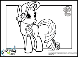 my little pony rarity coloring page free printable pages for