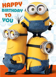 minions movie sound recorded card happy birthday to you despicable