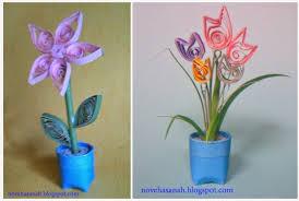 membuat hiasan bunga dari kertas lipat cara membuat bunga dari kertas bekas