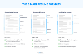formats for resume resume formats the best one in 3 steps exles templates