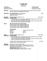 examples of resumes text details word doc resume template free