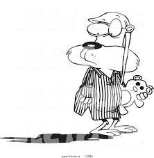 Vector Of A Cartoon Groundhog In Pajamas Looking At His Shadow Groundhog Color Page
