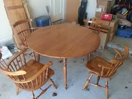 Ethan Allen By Baumritter Table And Chairs My Antique Furniture - Ethan allen drop leaf dining room table