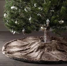 faux fur tree skirt 24 cozy faux fur christmas décor ideas shelterness