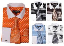 men u0027s fashion polka dot design french cuff dress shirt style ah613