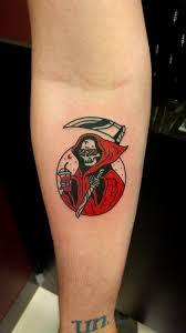 my off duty grim reaper done by ryan gold coast tattoos