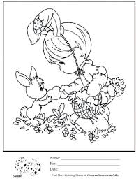 kids coloring page precious moments valentines bunny coloring