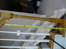 home depot stair railings interior replacing wooden stair balusters spindles with wrought iron