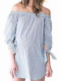 striped blouse the shoulder striped blouse maternity olive
