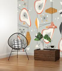 10 ways to get a mid century style in your home pixers vintage pattern wall mural mid century style