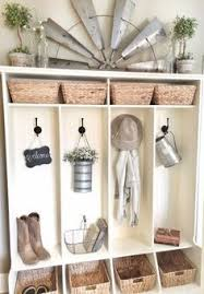 eclectic farmhouse tour mudroom room and lockers