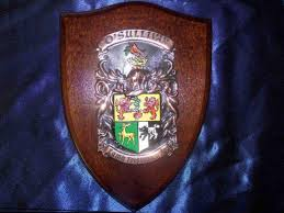 Family Crest Flags Family Crest Plaque With Your Coat Of Arms On The Shield