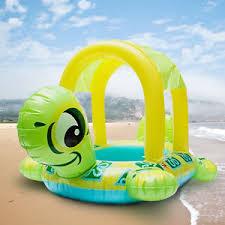 siege bebe gonflable gonflable natation siège tortue forme bouée parasol bateau piscine