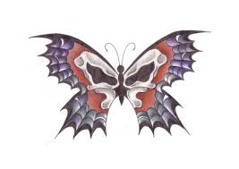skull butterfly by weaverofshadow on deviantart