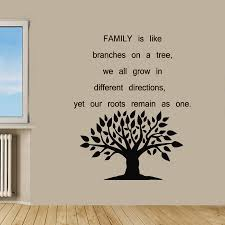 Wall Sticker Warehouse Family Tree Quote Sticker Vinyl Wall Art Free Shipping On Orders